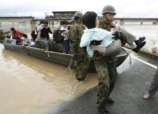 مقتل 30 شخصًا وفقد العشرات بسبب فيضانات وأمطار غزيرة تضرب اليابان
