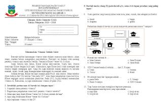 Unduh Soal UAS Bahasa Indonesia Kelas 4 Semester 1