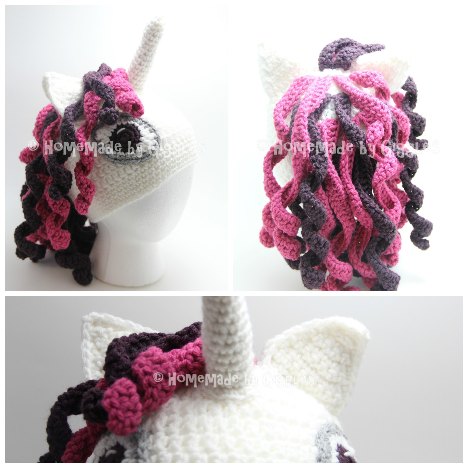 My daughter asked me if I could make her a unicorn hat... and I can t say  no to my sweet little girl when it comes to crochet projects!! 3f9de0e055b