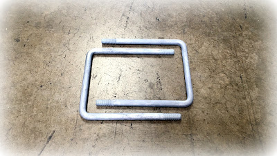 "Custom Square Galvanized U-Bolts - 1/2"" X 7"" In A36 Galvanized Steel Material"