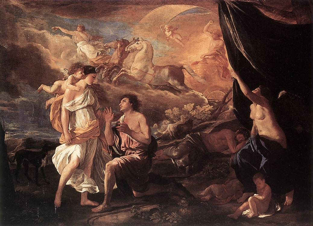 Selene And Endymion Detail By Nicolas Poussin 1594 1665