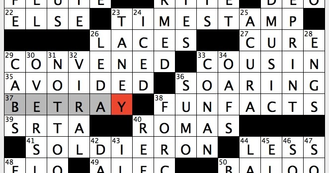 The living end crossword clue