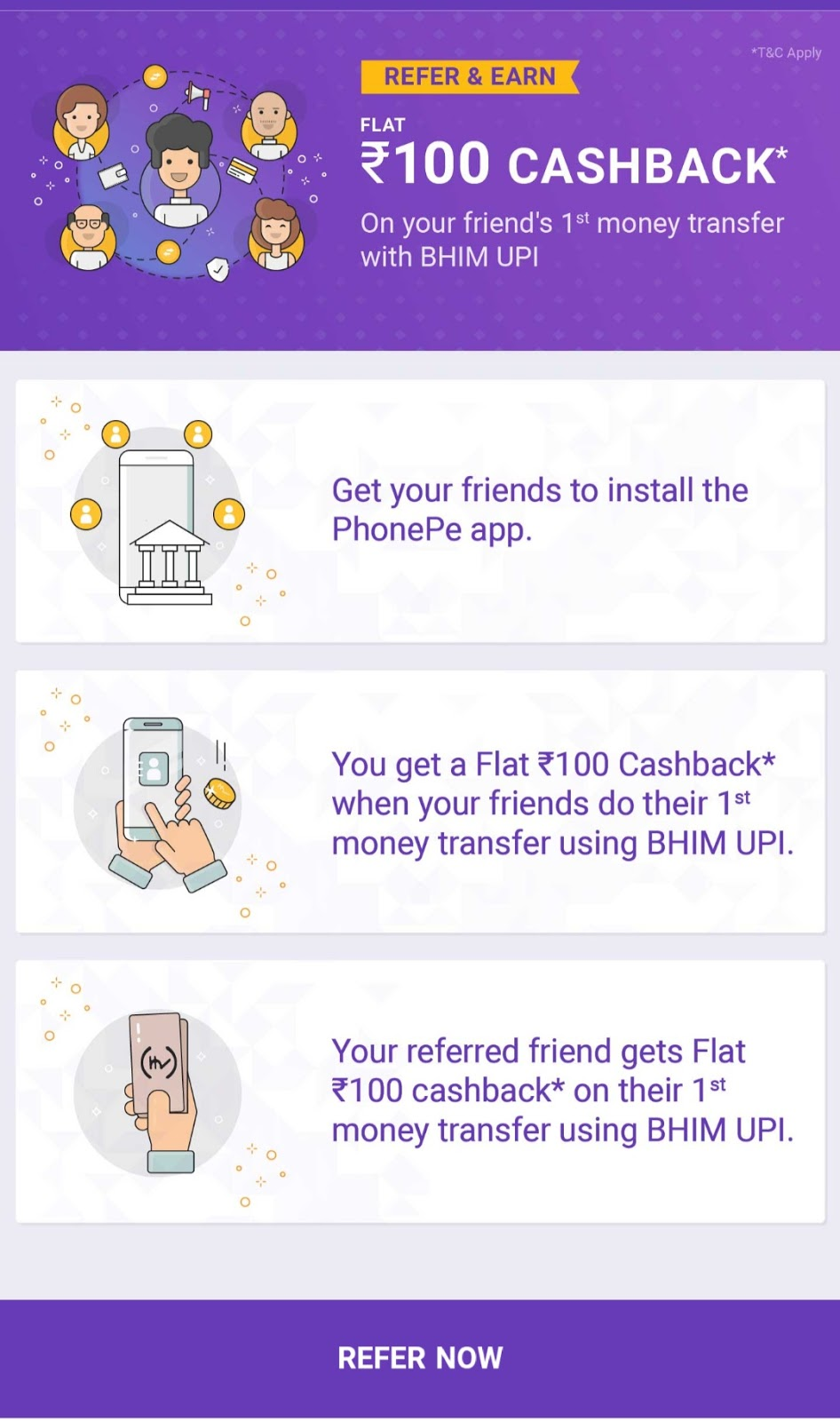 Phone Pay Refer Earn Unlimited Cash