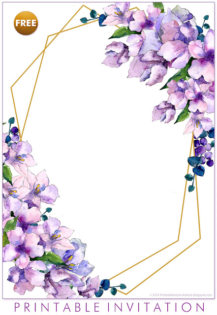 one of two free purple wedding invitations