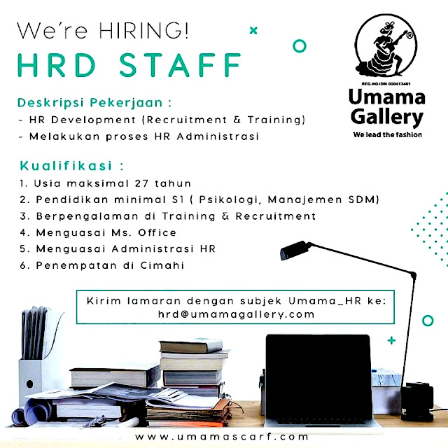 Lowongan Kerja HRD Staff