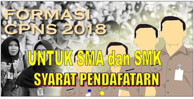 Formasi CPNS 2018 Untuk Tingkat SMA Dan SMK