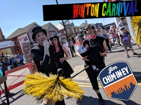 winton Carnival - Jim Chim-in-ey Chimney Sweep Bournemouth 01a