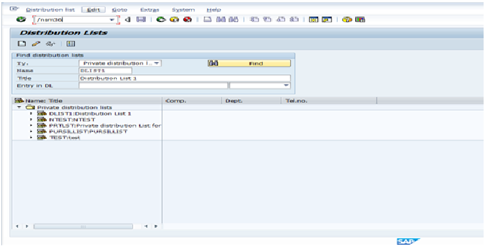 Distribution List for sending mails to multiple Id's - Sap 4 All