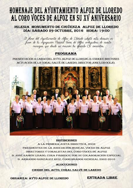 "Homenaje al Coro ""Voces de Alfoz"""