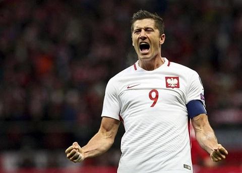 Hình ảnh ăn mừng bàn thắng cầu thủ Ba Lan