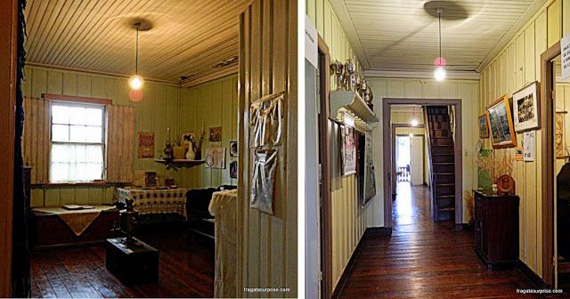 Ambientes típicos de casas de colonos no Museu Histórico da Colônia Witmarsum, Paraná