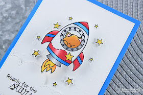 Reach For The Stars by Juliana Michaels featuring Cosmic Newton Stamp Set by Newton's Nook Designs