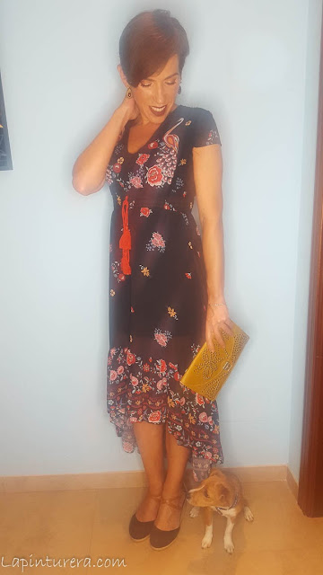 outfit 02 vestido otoño