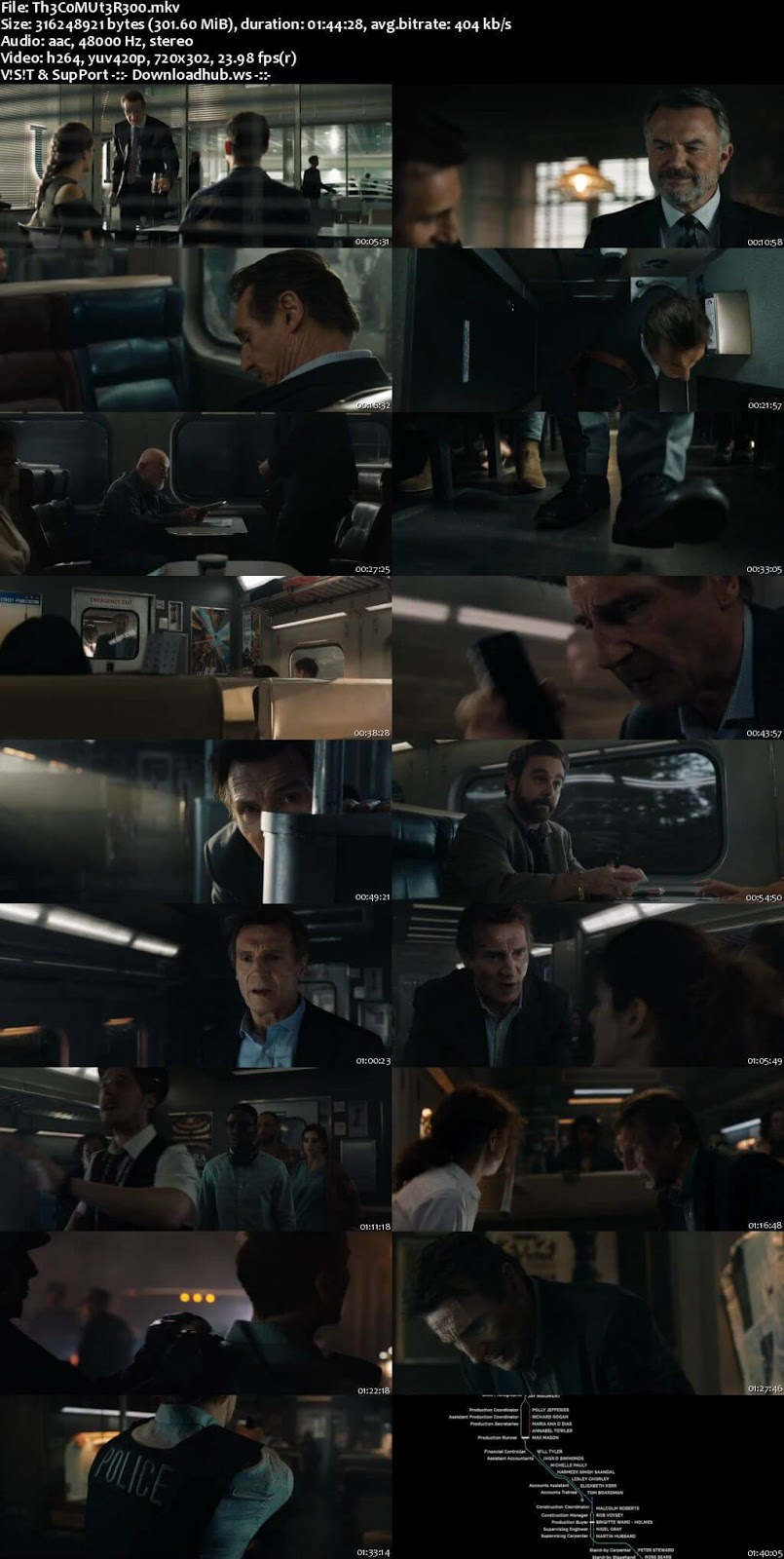 The Commuter 2018 English 480p WEBRip