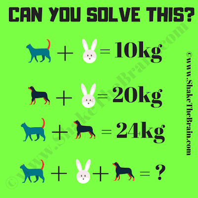 It is Math Animal Equation Puzzle in which your challenge is to find the value of each animal