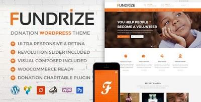 تحميل قالب الووردبريس fundrize للجمعيات والشركات مجانا