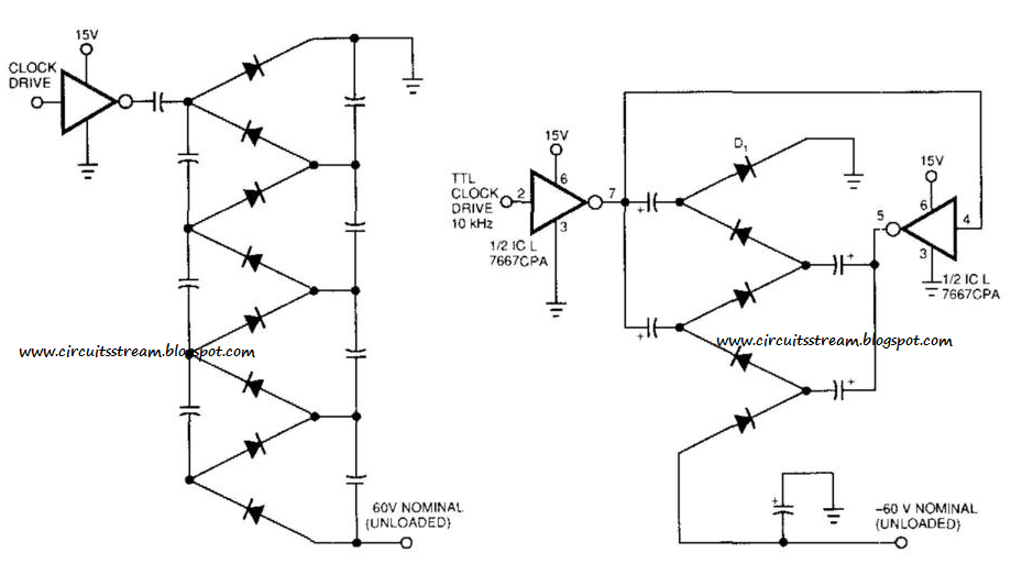simple voltage multiplier circuit diagram