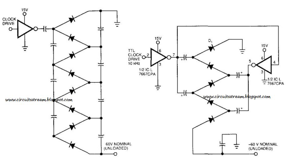 simple voltage multiplier circuit diagram electronic circuit