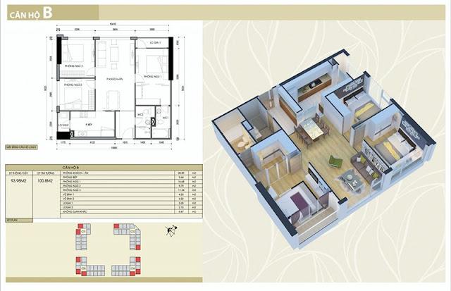 Thiết kế căn hộ B chung cư Eco Green City Nguyễn Xiển