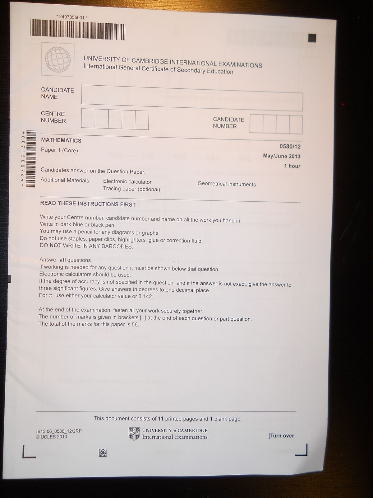 Igcse english literature past papers 2012 - Term paper Example
