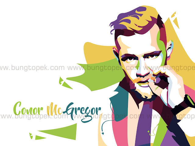 Conor McGregor in Pop Art Portrait