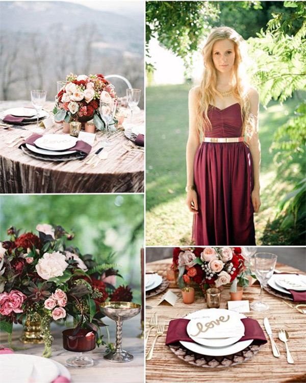 Burgundy And Gold Wedding Decorations: Being A Perfect Bridesmaid: Burgundy Color For Autumn Wedding