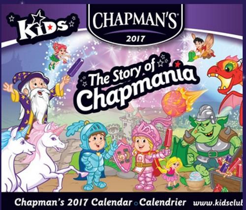 Chapman's Free 2017 Calendar
