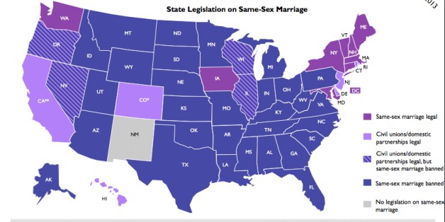 same sex marriage in us map in Escondido