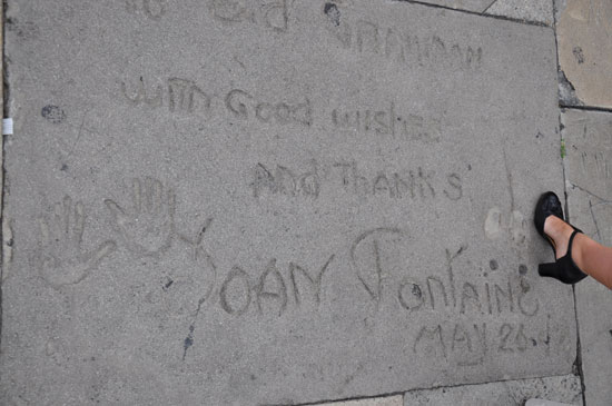 Joan Fontaine footprints Grauman's Chinese Theater by Lady by Choice