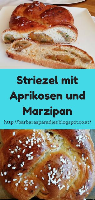 Striezel mit Aprikosen und Marzipan
