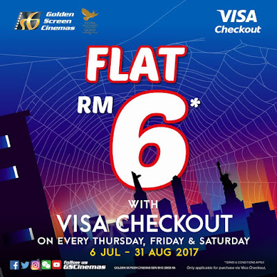 GSC Cinema Movie Ticket RM6 Flat Rate Visa Checkout Promo