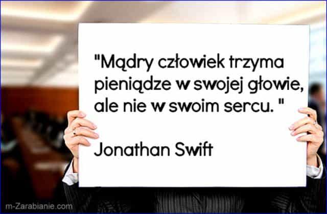Jonathan Swift, cytaty o oszczędzaniu i pieniądzach.