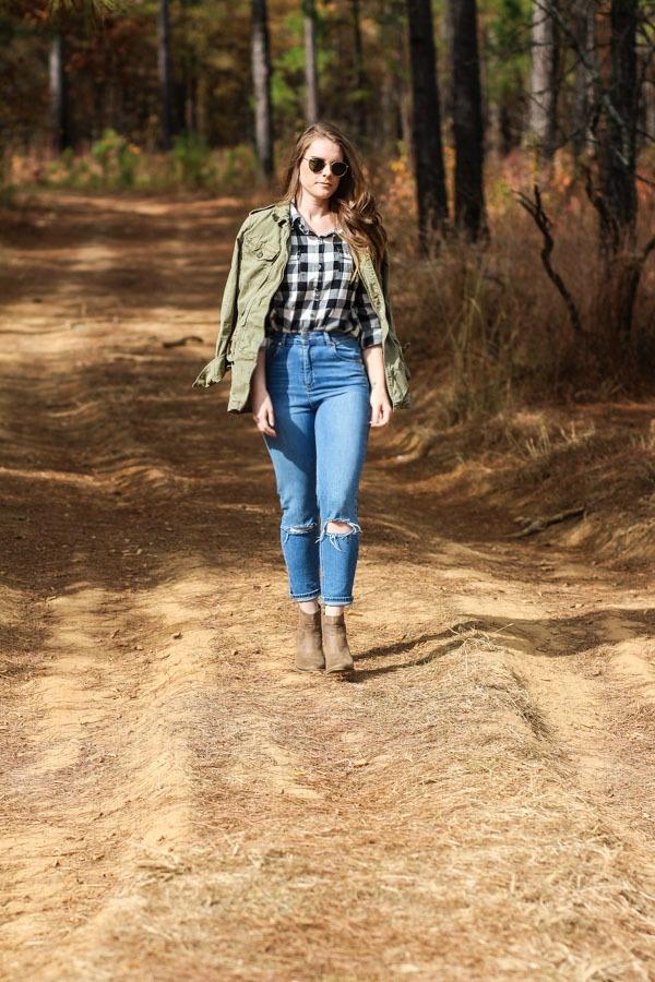 Field Jackets, Plaid shirts, and Mom jeans