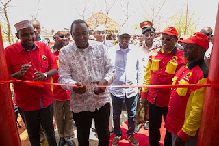 President Uhuru Kenyatta opens a new JAP office in Narok. PHOTO | Courtesy