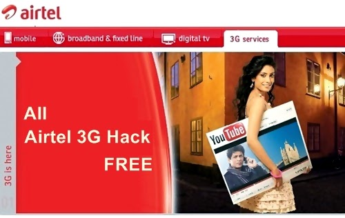 Airtel 3G Free GPRS Hack with two New Working Proxy [Updated]