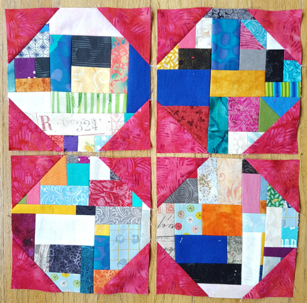 Snowball blocks | DevotedQuilter.blogspot.com