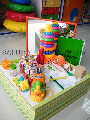 Bateria TAP Test Abreviado Peruano caja materiales colores