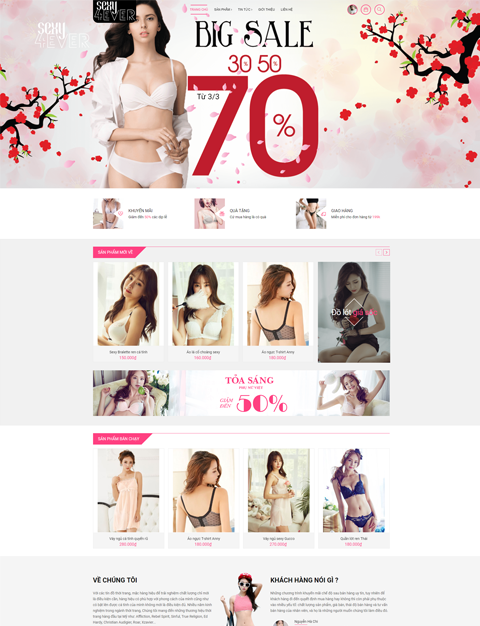 Template giao diện mẫu blogspot shop thời trang