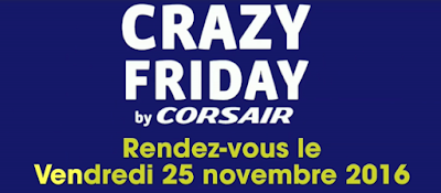 Crazy Friday vente flash Corsair