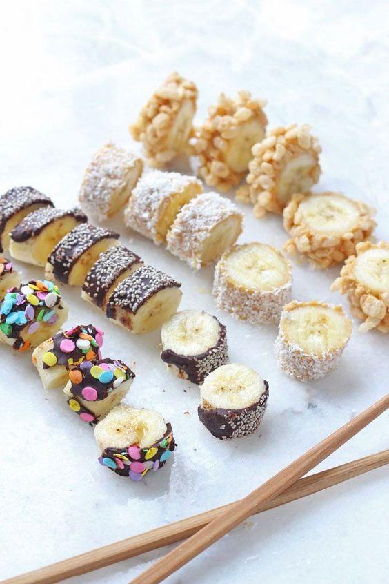 BANANA SUSHI #banana #sushi #healthyfood #healthyrecipes #healthysnack #snackrecipes #easysnackrecipes