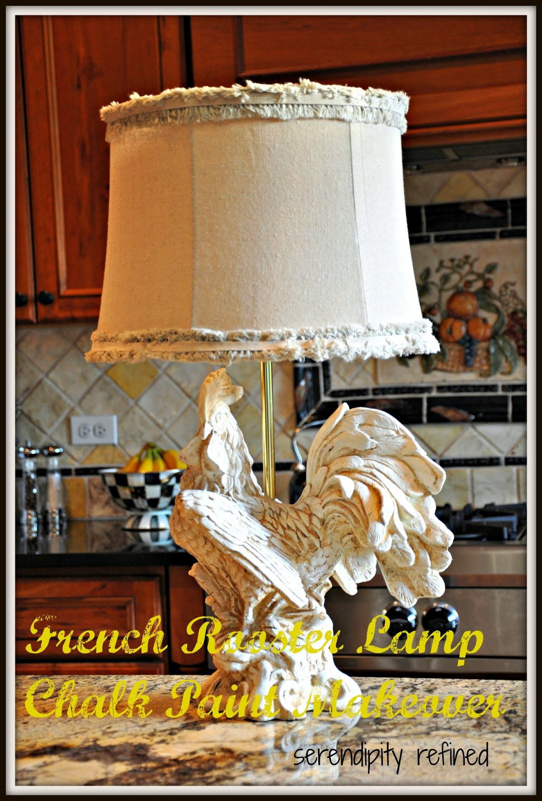 Brand-new Serendipity Refined Blog: French Rooster Kitchen Lamp Chalk Paint  ZV93