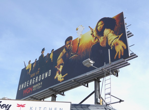 Underground season 2 extension billboard