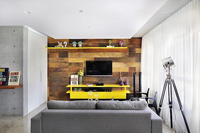 sala-de-estra-decoração-amarela