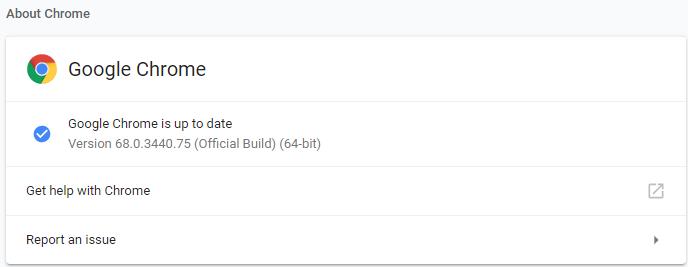 Google Chrome 68.0.3440.75