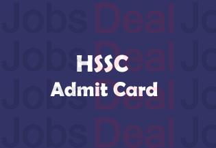 HSSC Steno Typist Admit Card 2017