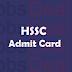 HSSC Steno Typist Admit Card 2017 – HSSC Jr/ Sr Scale Steno Exam Date