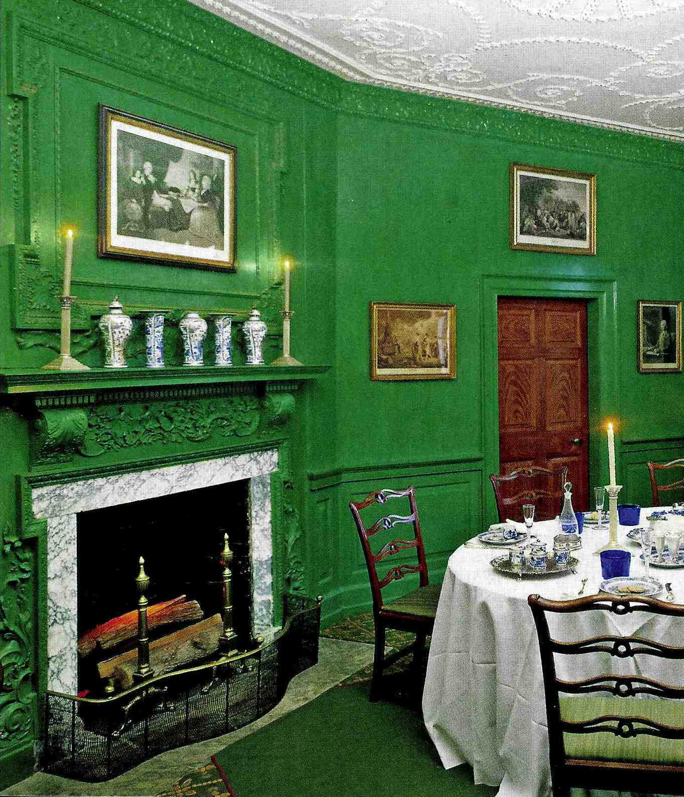 Mount Vernon Dining Room: The Designer's Muse: Go Green