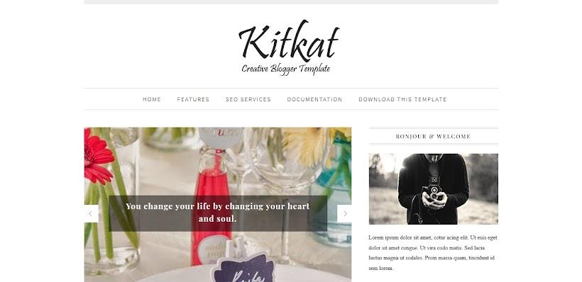 KitKat Free Blogger Template