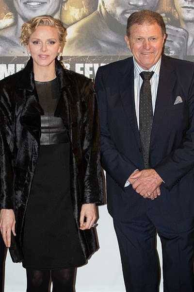 Princess Charlene Wittstock and Michael on the box