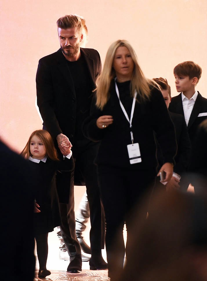 Beckham-And-Kids-At-Wife's-Show
